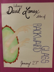 A Cosburn student's poster based on the cover of Backward Glass.